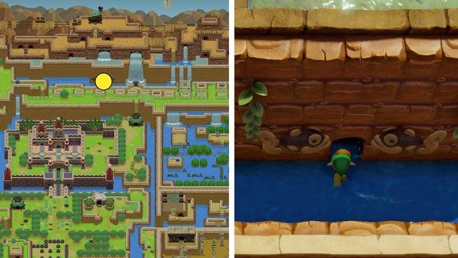 Hier lernt ihr Manbos Mambo in Zelda: Link's Awakening.