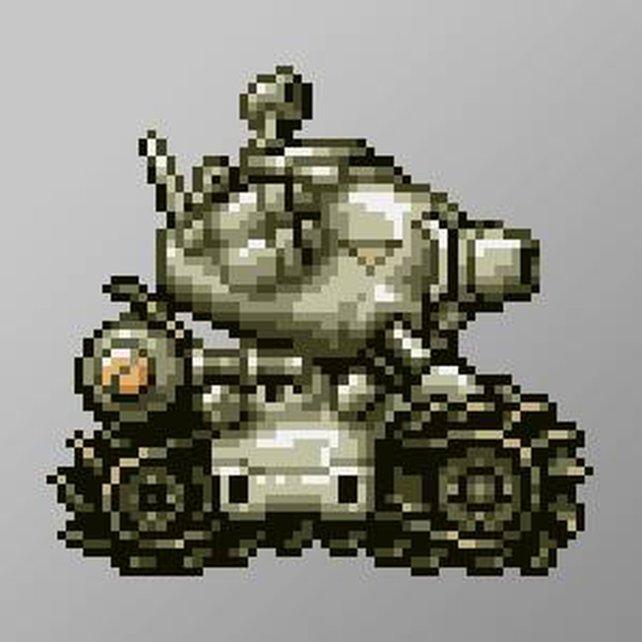 Laut Geschichte ist der Metal-Slug-Panzer rund drei Tonnen schwer.