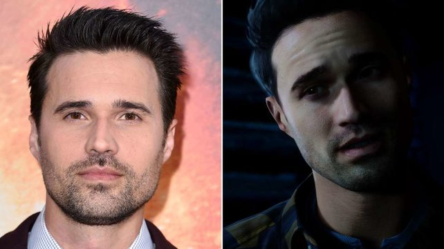 Brett Dalton in echt (links) und als Mike in Until Dawn.
