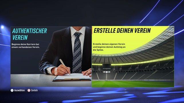 Lieblingsverein oder eigener Club? Der Karrieremodus in FIFA 22 macht es möglich.
