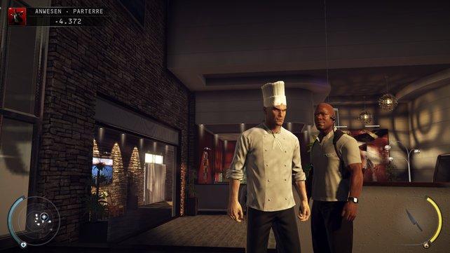 Als Koch kann man sich im Anwesen frei bewegen, zumindest im Erdgeschoss.