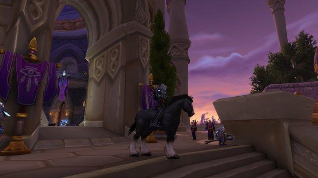 Als Worg erhaltet ihr ein Bergpferd, welches ganz ohne Zaumzeug und Sattel auskommt.