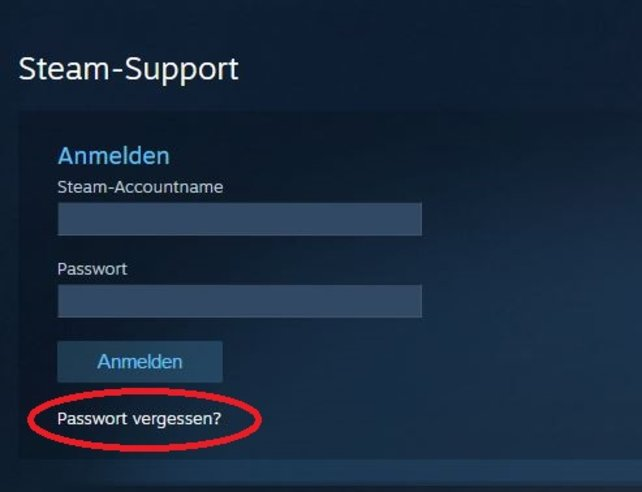 PaГџwort VergeГџen Steam
