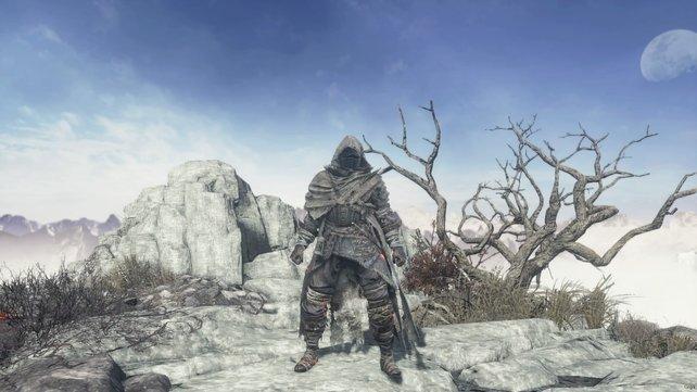 Schwarzes Metall ziert die Rüstung des gefallenen Ritters.