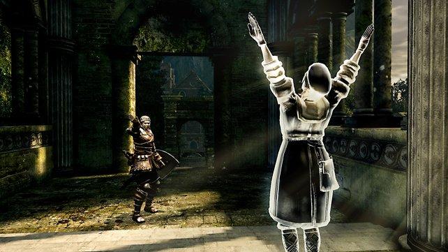Gern gesehen: Hilfreiche Phantome gibt es an manchen Stellen im Spiel auch als NPCs.