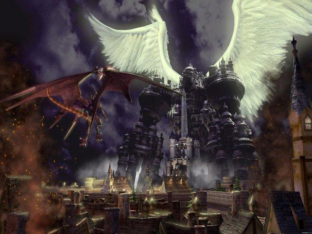 Alexander wird beschworen und schützt die Stadt vor Bahamut.