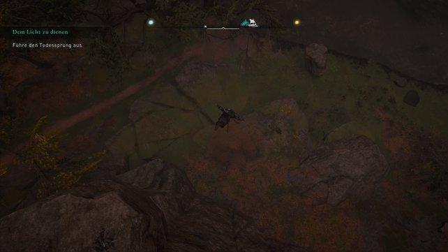 Führt den Todessprung aus und schaltet somit eine der entscheidenen Spielemechaniken von Assassin's Creed frei.