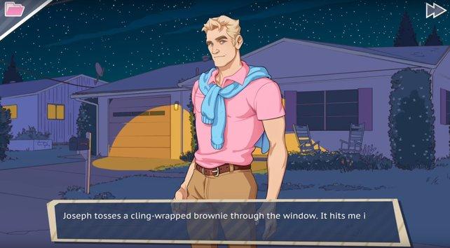 Das Joseph begeistert von Knoten ist, zeigt selbst sein Kleidungsstil.