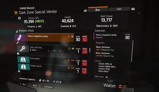 Agenten-Rang 30 ist eine Grundbedingung um bei Spezial-Händlern akzeptiert zu werden.