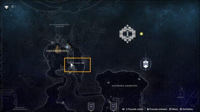 Im Nordwesten der Europa-Karte findet ihr Bunker E15.