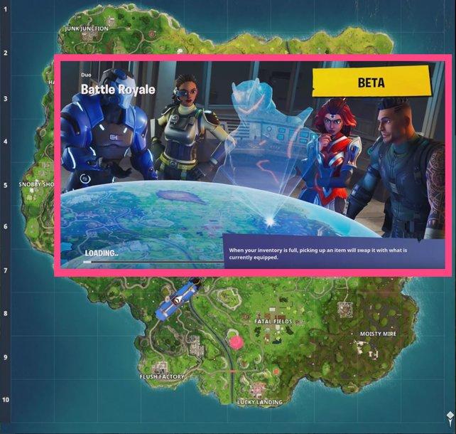 Blockbuster-Ladebildschirm aus Woche 3: Nicht etwa das Omega-Hologramm ist entscheidend. Ihr seht den Battle-Stern schon auf dem Berg bei Fatal Fields.