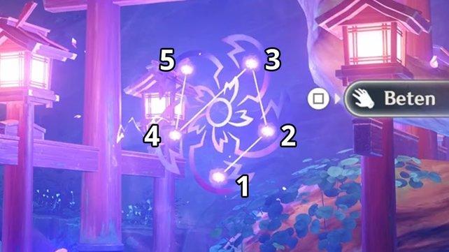 Das Bild zeigt euch die richtige Reihenfolge und somit die Lösung für das Rätsel.
