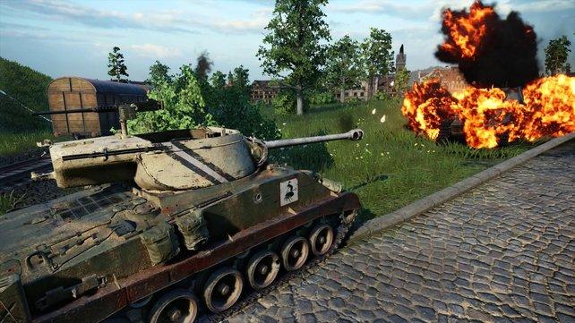 Viele Details in der Spielmechanik: Das Free2Play-Spiel World of Tanks.