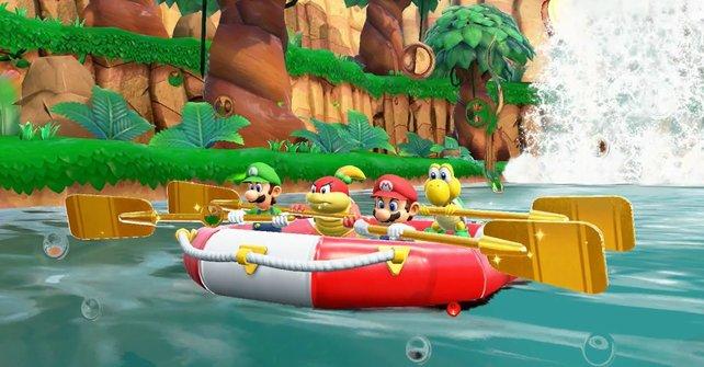 Mit dem Goldpaddel könnt ihr das Boot leichter lenken.