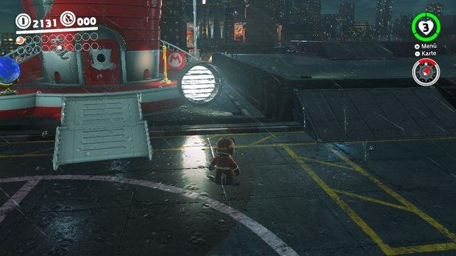Auch im strömenden Regen hält Mario die saubere Bildwiederholrate.