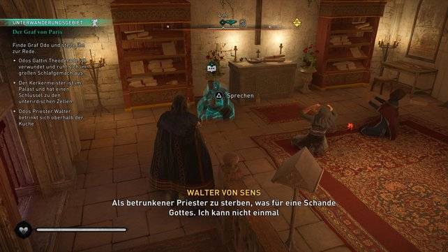 Gebt ihr Walter von Sens den besonderen Wein, gibt er euch den Schlüssel zum Schlafgemach der Gräfin.
