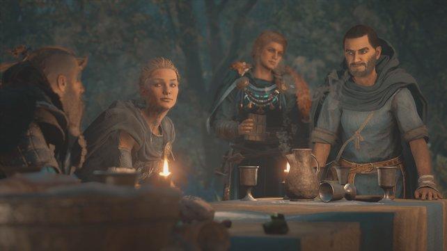 Die Neuankömmlinge in Hraefnathorp wollen, dass Eivor sie ins Frankenland begleitet, um ihnen zu helfen.