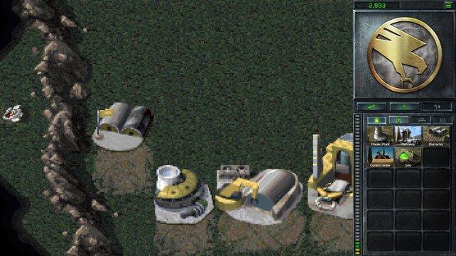 Das Objekt am linken Rand sieht aus wie abgestürztes Raumschiff