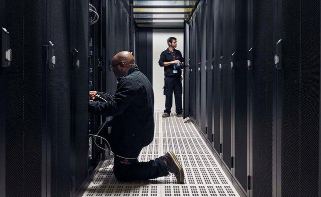 So sehen die Hochsicherheits-Serverräume bei Shadow aus.