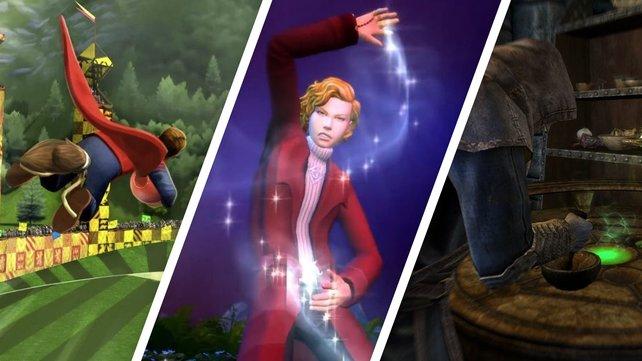Harry Potter, Die Sims 4 - Reich der Magie und Skyrim: Welches Spiel hat Magie wirklich verstanden?