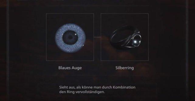 Der Ring mit dem blauen Auge ist einer von fünf kombinierbaren Schätze.