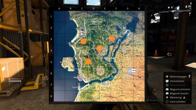 Wir haben euch hier mal einige Orte markiert, die wir euch für alle Spielstile empfehlen.