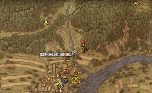 Laras Grab liegt im Wald. Hier solltet ihr mit dem Apotheker den Zauber wirken.
