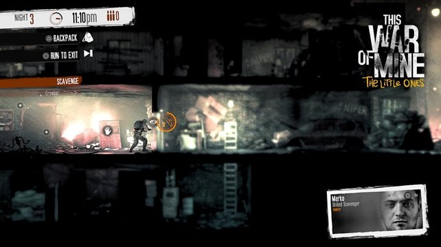 In This War of Mine - The Little Ones ist Marko einer der gewieftesten Plünderer.