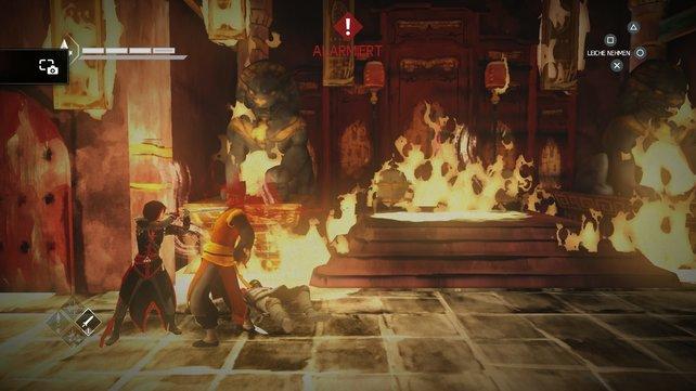 Manchmal geht es in Assassin's Creed Chronicles ganz schön blutig zu.