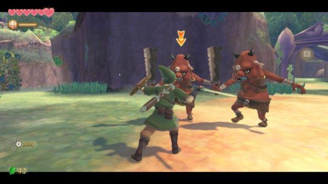 Im müsst im Kampf die ungedeckten Seiten der Gegner angreifen, um die auszuschalten. Die genaue Kontrolle über euer Schwert ist deshalb sehr wichtig.