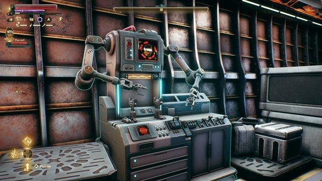 Die Werkbank in eurem Raumschiff steht euch jederzeit zur Verfügung.