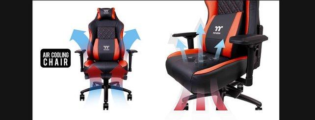Thermaltake X Comfort Air: Stuhl mit Kühlung für den Hintern - Panorama