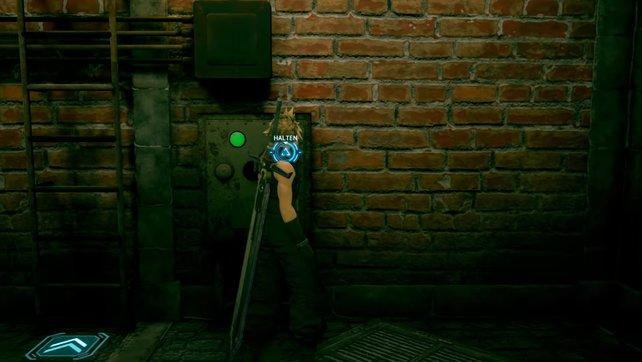 Haltet ihr den Schalter neben der Leiter gedrückt, wird das Wasser im zuvor überfluteten Raum abgelassen.