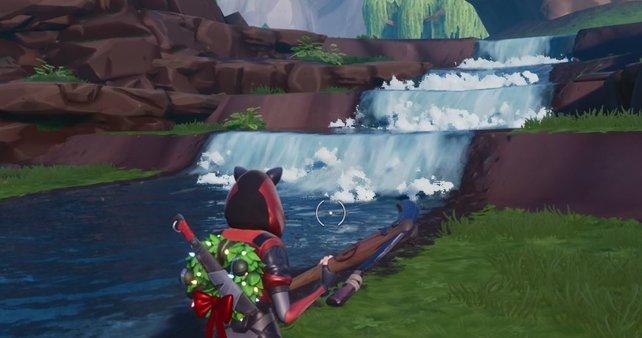 Wasserfälle in Fortnite sind schön anzusehen und euer Ziel in den Verlängerungsherausforderungen.