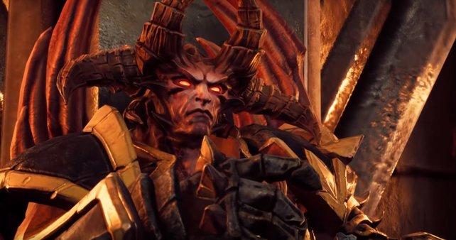 Den diabolischen Wichtigtuer namens Abraxis müsst ihr töten, wenn ihr das letzte Geschenk des Fürsten des Abgrunds bekommen wollt.