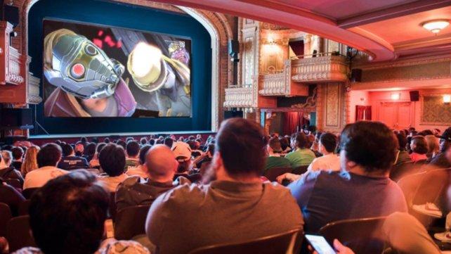 Auf dem Tribeca Games Festival kam Crowd Play auf der großen Leinwand zum Einsatz.