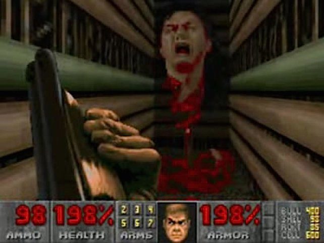 Der versteckte Entwickler John Romero in Doom 2.