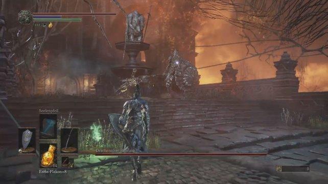 Drachentöter-Rüstung ist ein Endgegner bei Dark Souls 3.