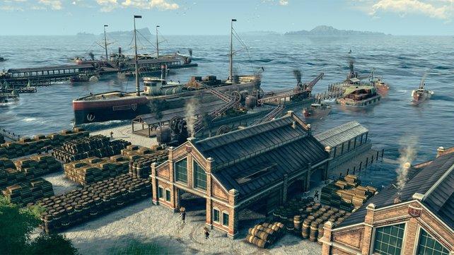 Ein Reparaturkran im Hafen ist äußerst nützlich.