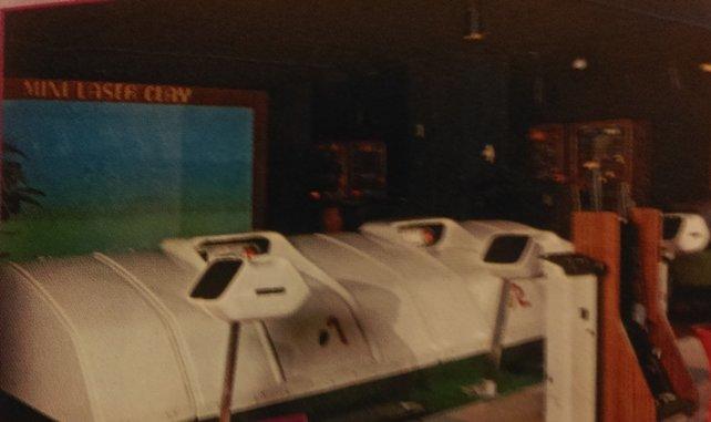 Das Mini Laser Clay ist so etwas wie der Übergang hin zum Arcade-Automaten
