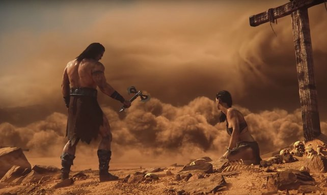 Ein nahender Sandsturm sollte nicht auf die leichte Schulter genommen werden. Los! Ihr braucht Zuflucht!