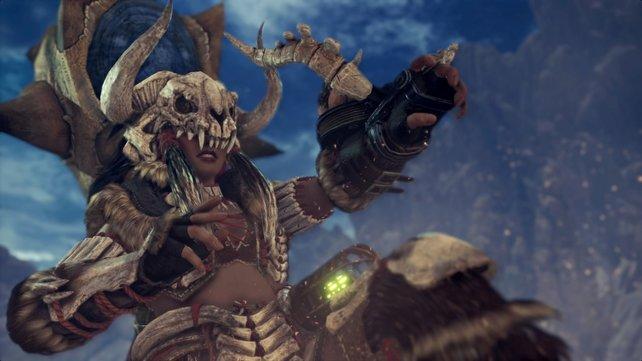 Mit dieser Knochenrüstung kann euch der Anjanath den Spaß an Monster Hunter World nicht verderben.