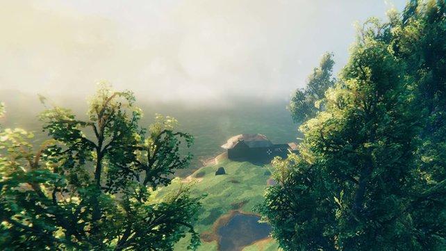 Durch das Pflanzen von Bäumen könnt ihr herrliche Ausblicke erschaffen.