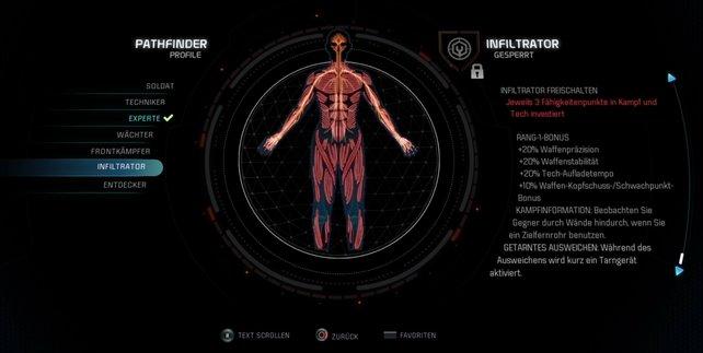 Das Infiltrator-Profil bietet sich gegen die Architekten von Mass Effect - Andromeda besonders gut an.