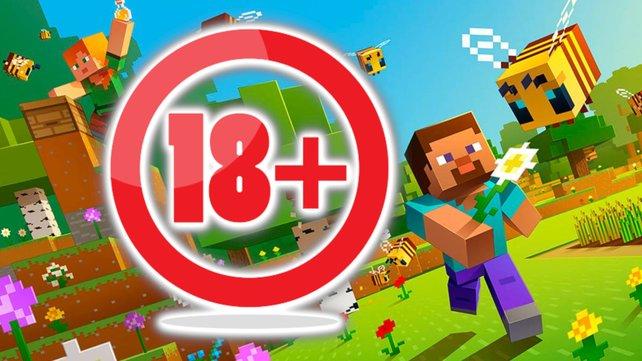 "Microsoft muss sich einem kuriosem Gesetz beugen: Minecraft kriegt daher einen ""ab 18""-Stempel verpasst. Bildquelle: Microsoft, Getty Images/siraanamwong."