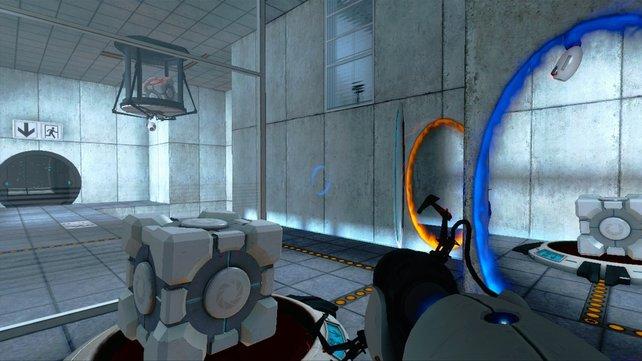 Ganz schön knifflig: Portal ist ein wahrer Klassiker - auch wegen Glados' böser Sprüche.