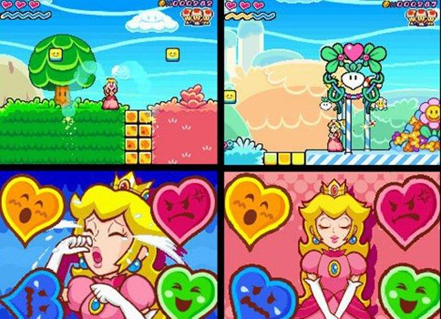 Auf dem DS bekommt Prinzessin Peach ihr erstes eigenes Spiel spendiert: Super Princess Peach.