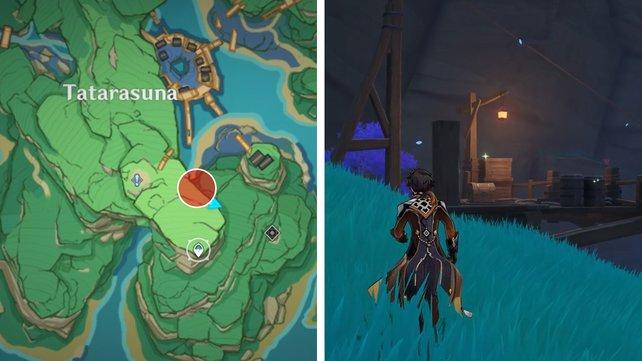 Die Karte zeigt euch den dritten Fundort eines Schlüssels zu einem Ort.