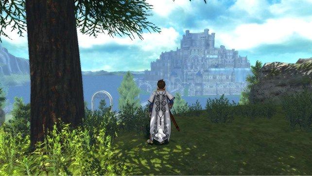 Vorbei die Zeit der flachen Landschaften. Sorey blickt auf eine befestigte Stadt.