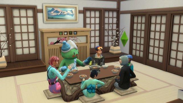 Der japanische Stil lässt euer Haus elegant und gemütlich aussehen. Und passend dazu könnt ihr mit eurer Familie aus einem Feuertopf essen.